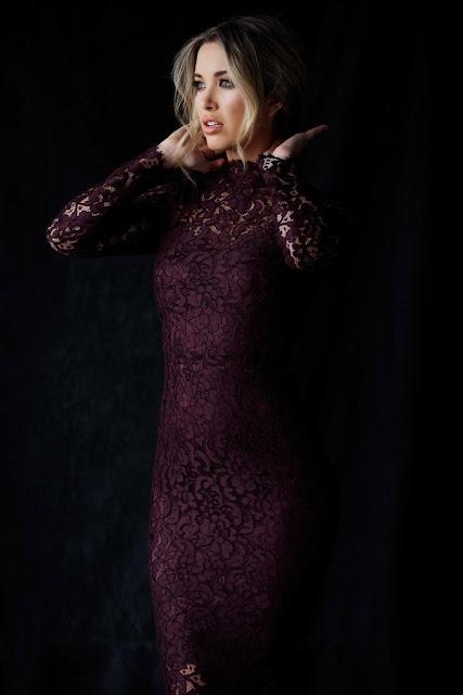 Melissa Bolona beautiful purple dress