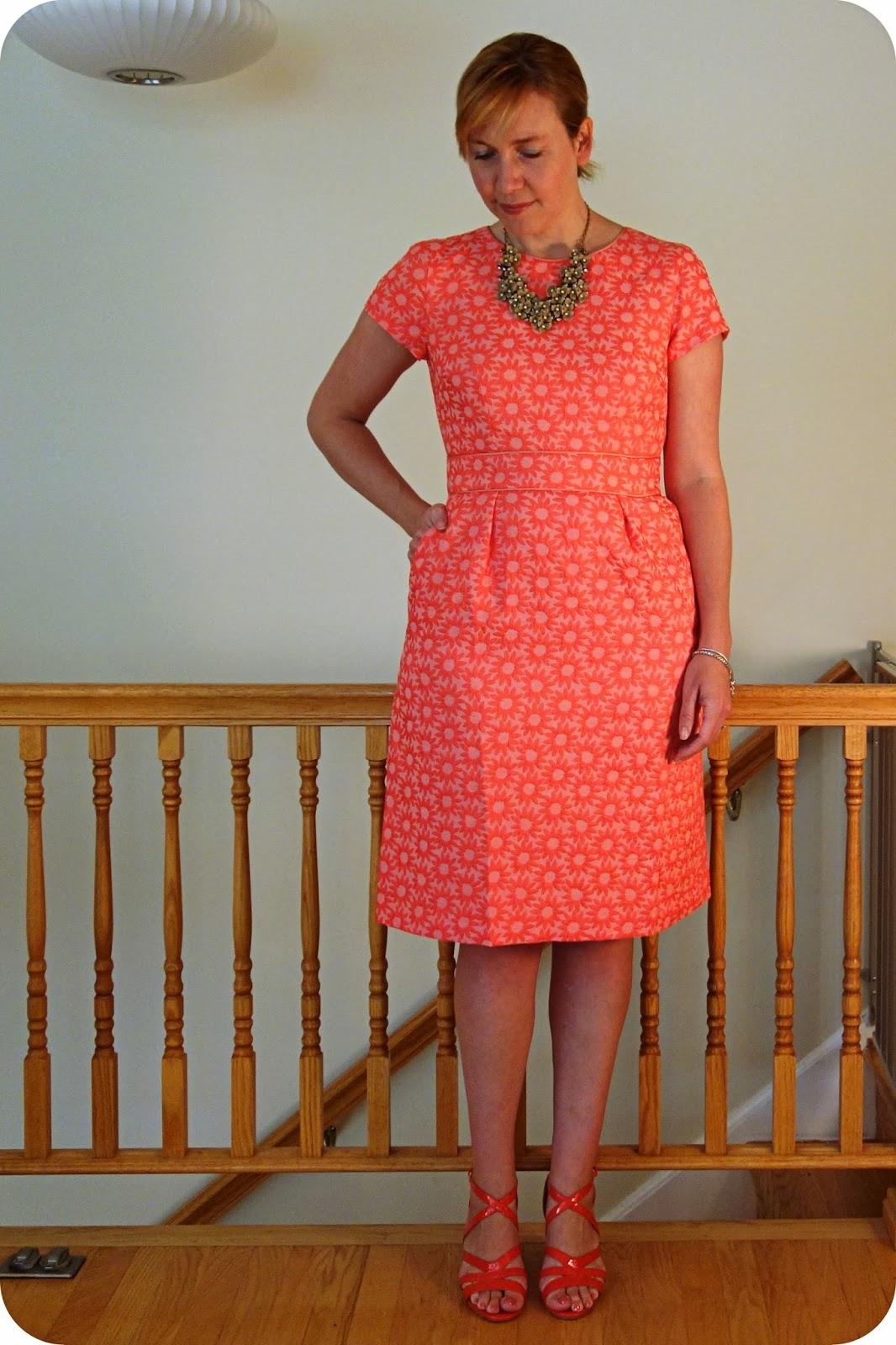 My Superfluities Ootd Review Boden Daisy Jacquard Dress
