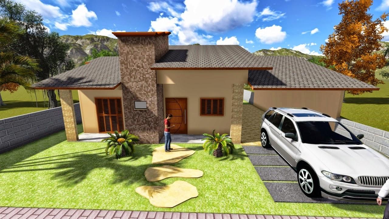 Casas modernas fachadas plantas e projetos pouco dim dim for Casa moderna 8