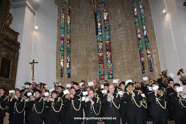 Agrupación Musical de la cofradía de Nuestra Señora de las Angustias y Soledad. Foto cortesía de Isaac Ibáñez