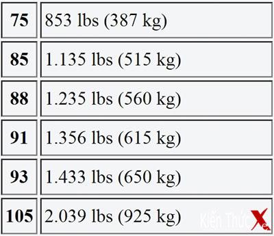 Cách đọc thông số lốp xe để lựa chọn lốp khi độ xe