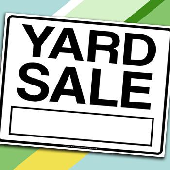 image regarding Free Printable Yard Sale Signs referred to as No cost Printable Backyard garden Sale Symptoms and Garage Sale Printables