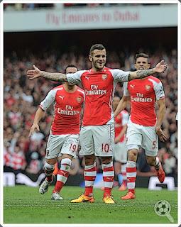 Wilshere Arsenal Cazorla Gabriel Paulista