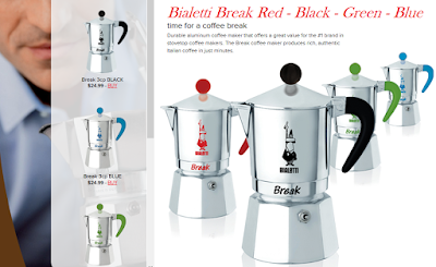 Bialetti Break Red Black Green Blue
