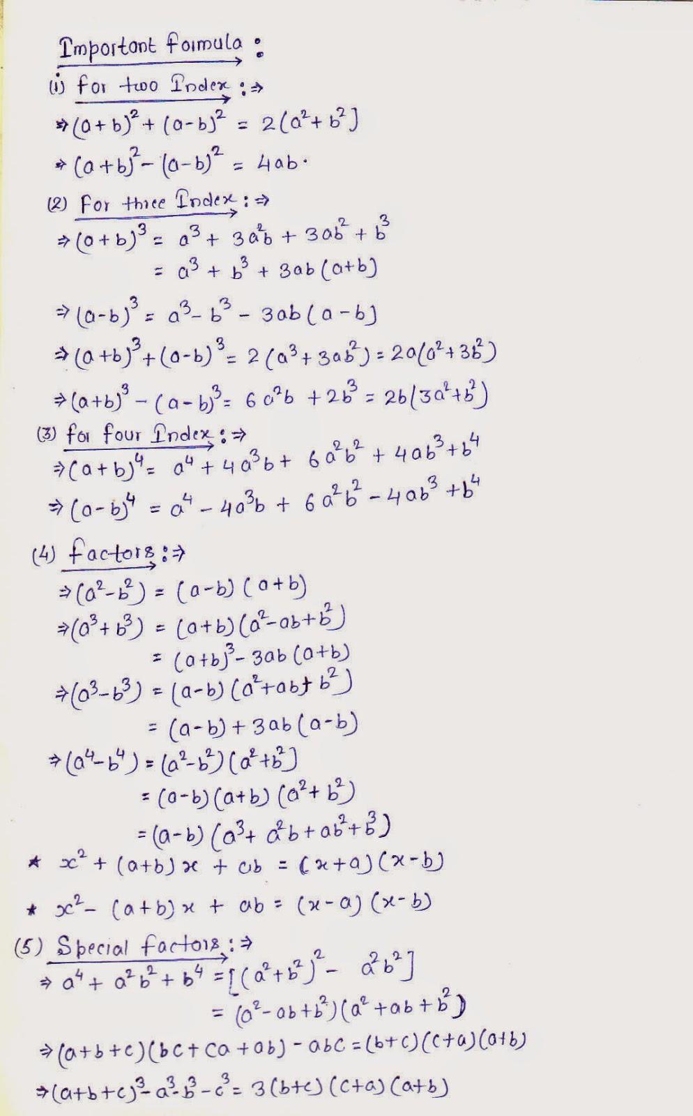 Aptitude Math Shortcut Formulas Pdf