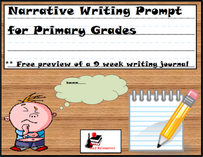 This free narrative writing prompt walks students through the writing process. It is available from Raki's Rad Resources