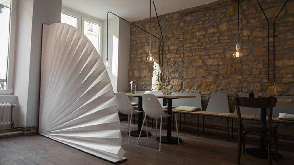 superior comment separer une piece 14 03e8000008230370 photo paravent eventail blanc esprit. Black Bedroom Furniture Sets. Home Design Ideas