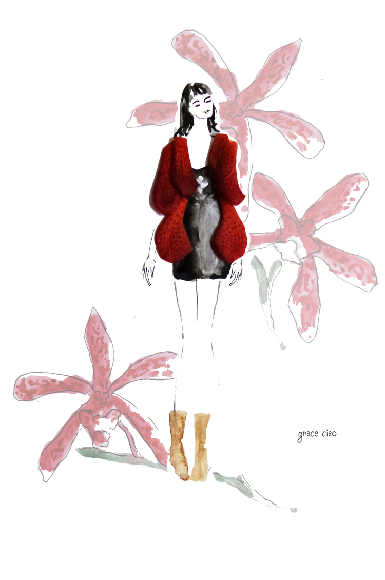 11-Fuzzy-Blood-Red-Outerwear-Nature-and-Grace-Ciao-Design-and-Draw-Dresses-with-Petals-www-designstack-co