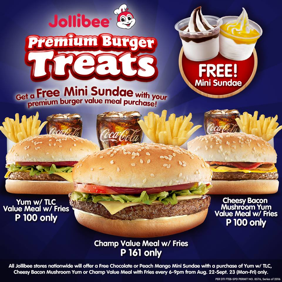 Manila Shopper Jollibee Premium Burger Treats Aug Sept 2016