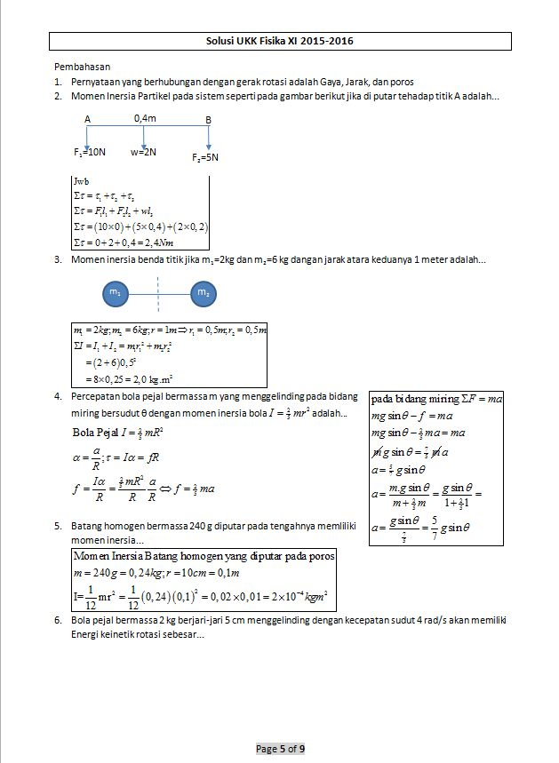 Soal Fisika Kelas 11 Semester 1 Kurikulum 2013 : fisika, kelas, semester, kurikulum, Fisika, Kelas, Pembahasannya, Crimsonagro