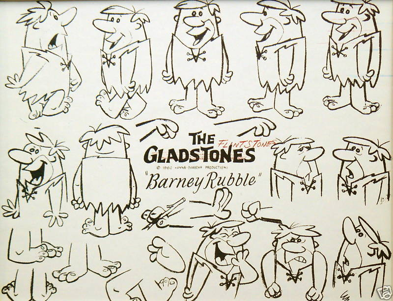 Cartoon Concept Design Flintstones Model Sheets