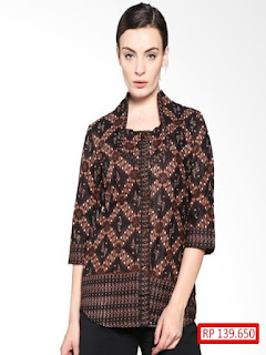 model baju batik atasan simple