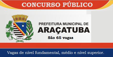 Concurso Prefeitura de Araçatuba-SP