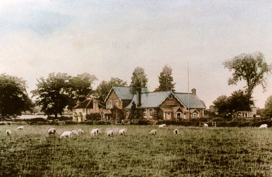 Postcard of Welham Green Boys' School - 1900s Image from G Knott, part of the Images of North Mymms Collection