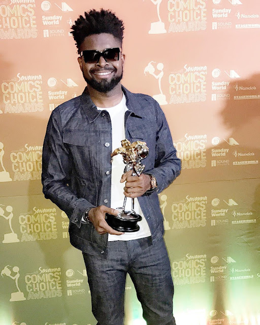 basketmouth wins best comdian 2017 comic choice awards