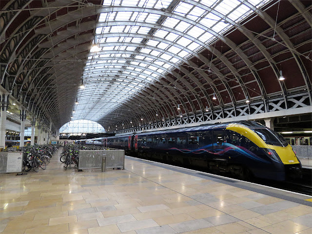 Interior of Paddington railway station, London