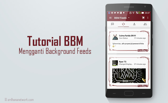 Tutorial BBM - Mengganti Background Feed