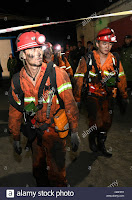 Shizuishan, China's Ningxia Hui Autonomous Region. 27th Sep, 2016. Rescuers walk out of the coal mine after a gas explosion in Shizuishan, northwest China's Ningxia Hui (Credit: alamy.com) Click to Enlarge.