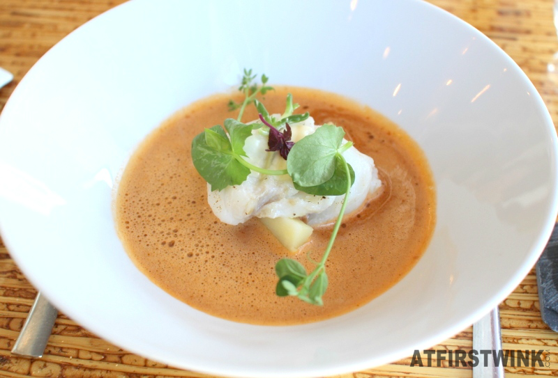 Restaurantweek Allure in Rotterdam lobster soup codfish white chocolate sauce