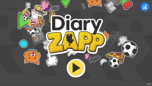 Diary Zapp app screen