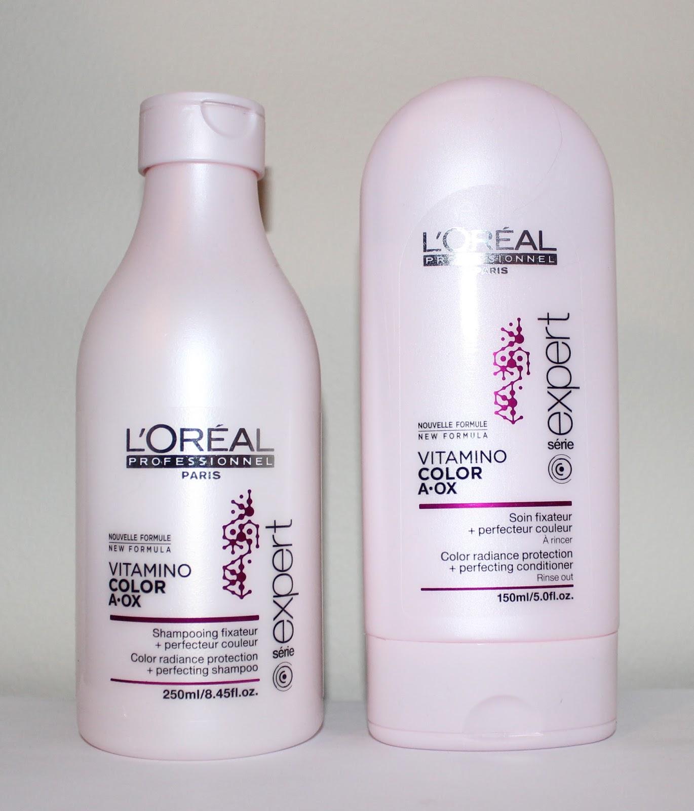 loral professionnel vitamino color a ox shampoo conditioner - L Oreal Vitamino Color