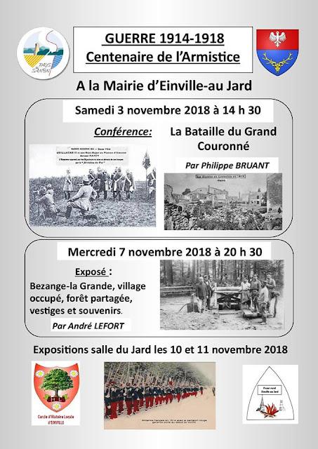 EINVILLE-AU-JARD (54) - Centenaire de l'Armistice (3-11 novembre 2018)