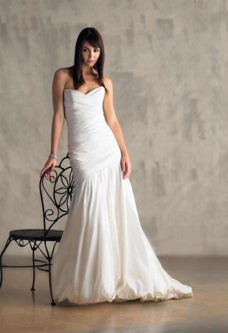 Plain Elegant White Wedding Dress Designs Wedding