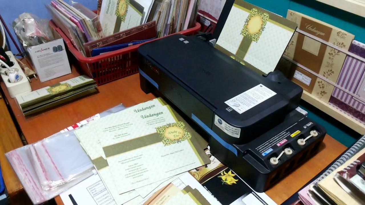 Cetak Undangan Dengan Printer Epson