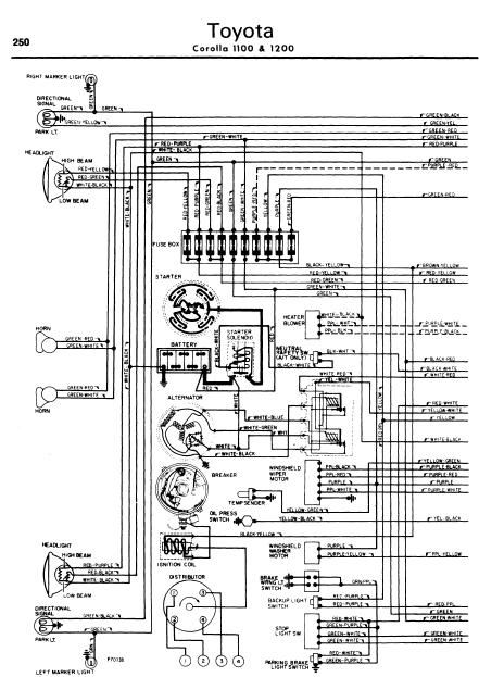 repair-manuals: Toyota Crown 1100 1200 1962-70 Wiring Diagram