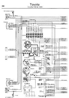 Toyota Crown 1100 1200 196270 Wiring Diagram | Online