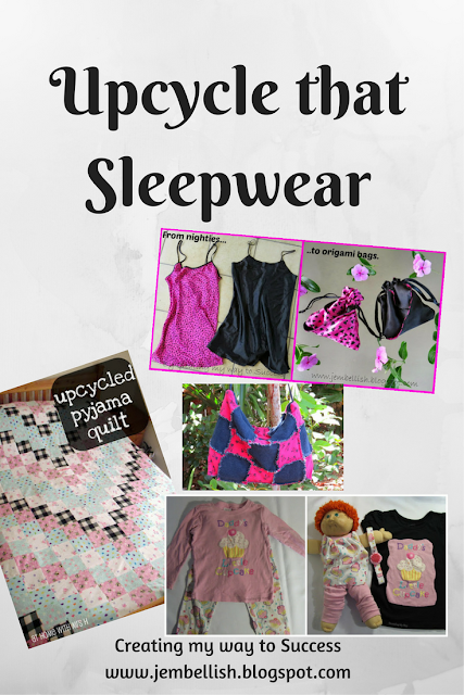 Upcycling pyjamas and sleepwear