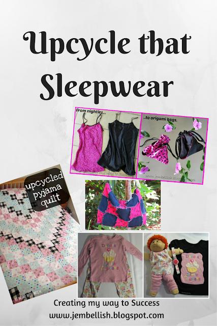 Upcycling pyjamas and sleepwear