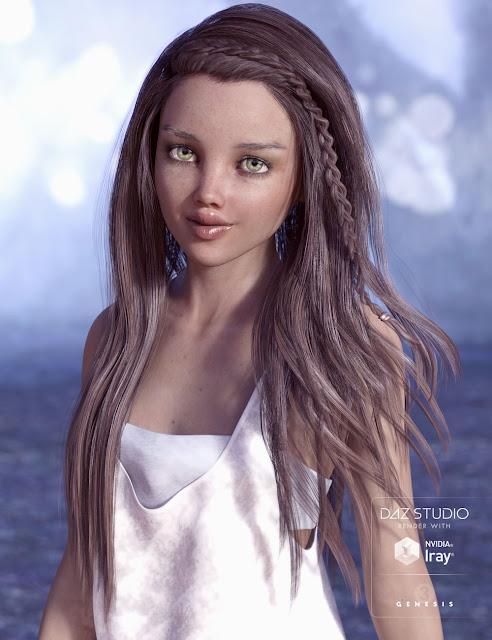 Tatum Hair for Genesis 3 Female
