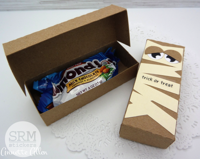 SRM Stickers - Spooky Treat Box by Annette - #kraft #box #halloween #stickers