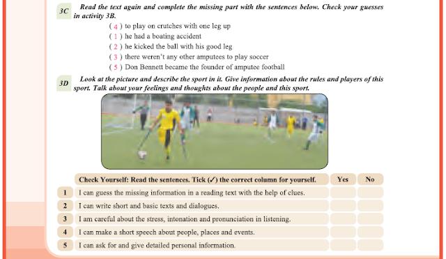 9. Sınıf Yıldırım Yayınları İngilizce A1.2 Ders Kitabı 62. Sayfa Cevapları Theme 4 Sports