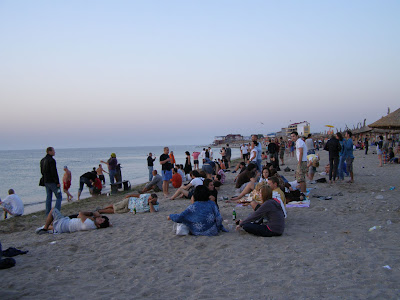 Waiting for the sunrise in Vama Veche, Romania