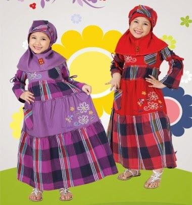 Baju muslim anak perempuan merek keke