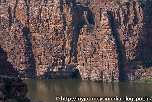 Cave in Gandikota Grand Canyon of India