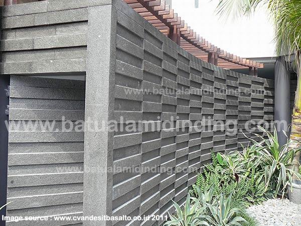 Harga Batu Alam Hitam Untuk Dinding Depan Rumah Sepil Alam Stone