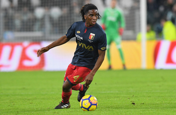 Stephane Omeonga of Genoa CFC in action during the Serie A match between Juventus and Genoa CFC on January 22, 2018 in Turin, Italy