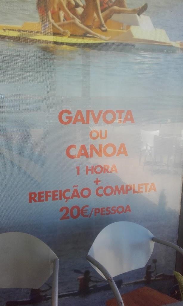 Aluguer de Gaivota ou canoa