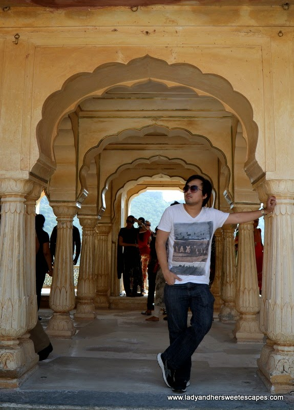 Ed in Amber Fort Jaipur