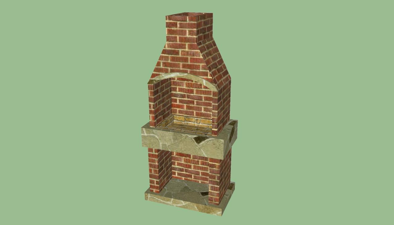 Brick Laminate Picture Brick Grill Plans