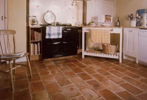 Rectangular Kitchen Tile Wall Spanish