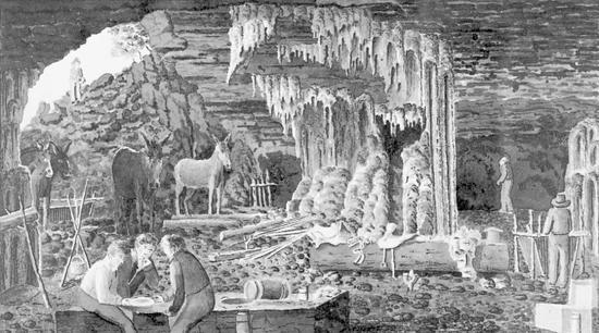 Peter Lund, cavernas de Minas Gerais, gravura