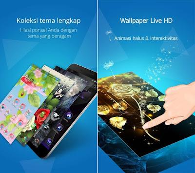 Tampilan Aplikasi CM Launcher 3D Pro