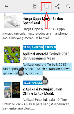 Cara Copy Paste Teks di Sony Xperia