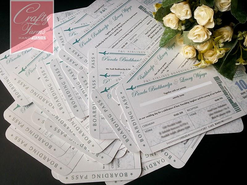 Wedding Card Malaysia Crafty Farms Handmade First Class Boarding
