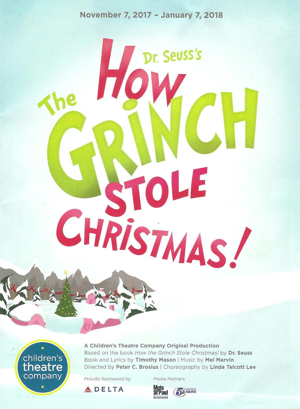 how the grinch stole christmas at the childrens theatre company - Original How The Grinch Stole Christmas