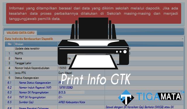 Cara Print atau Simpan Info GTK yang Baik dan Benar